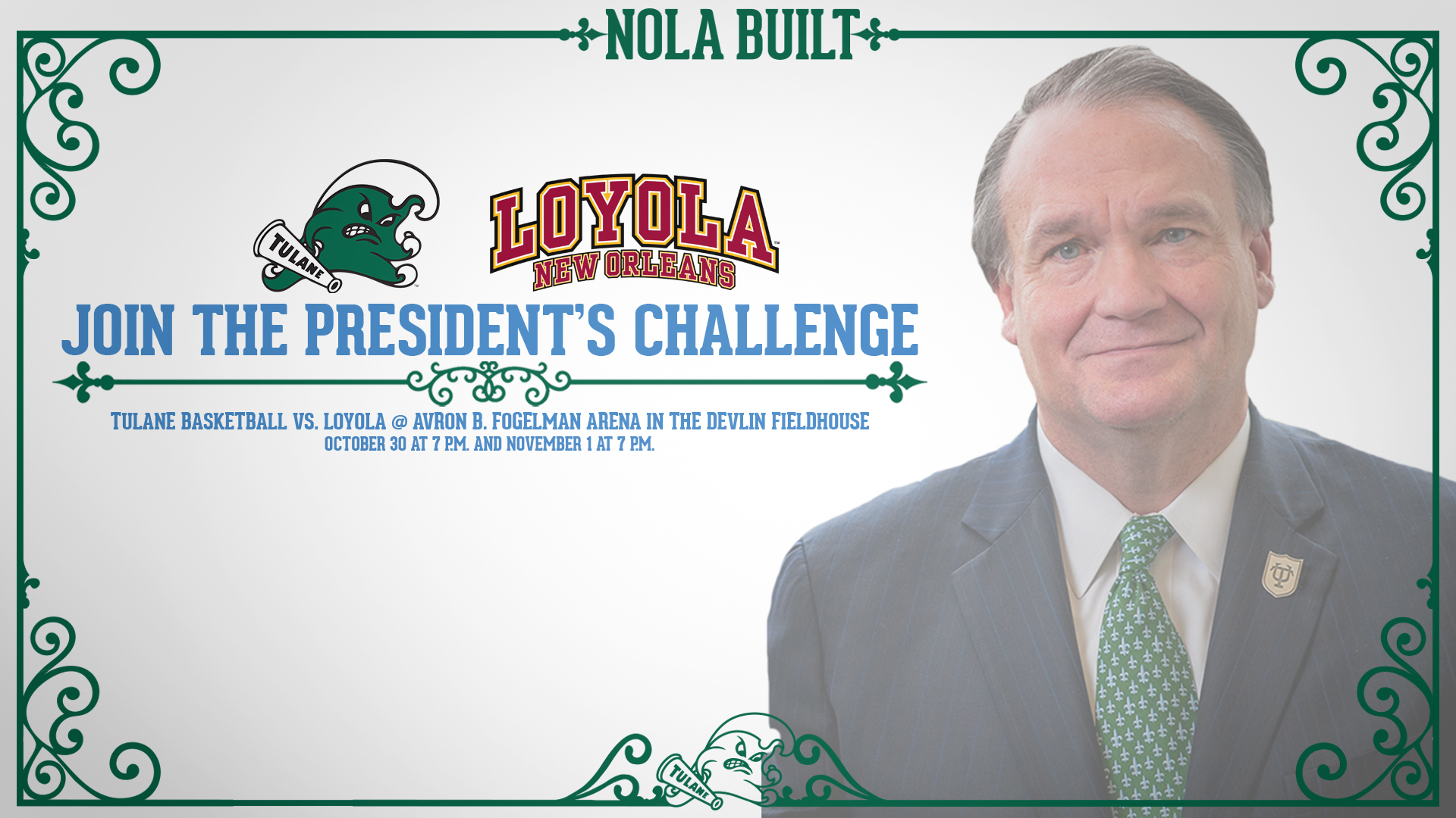 on sale 27e15 c5fb6 Tulane and Loyola to Take Part in the President's Challenge ...