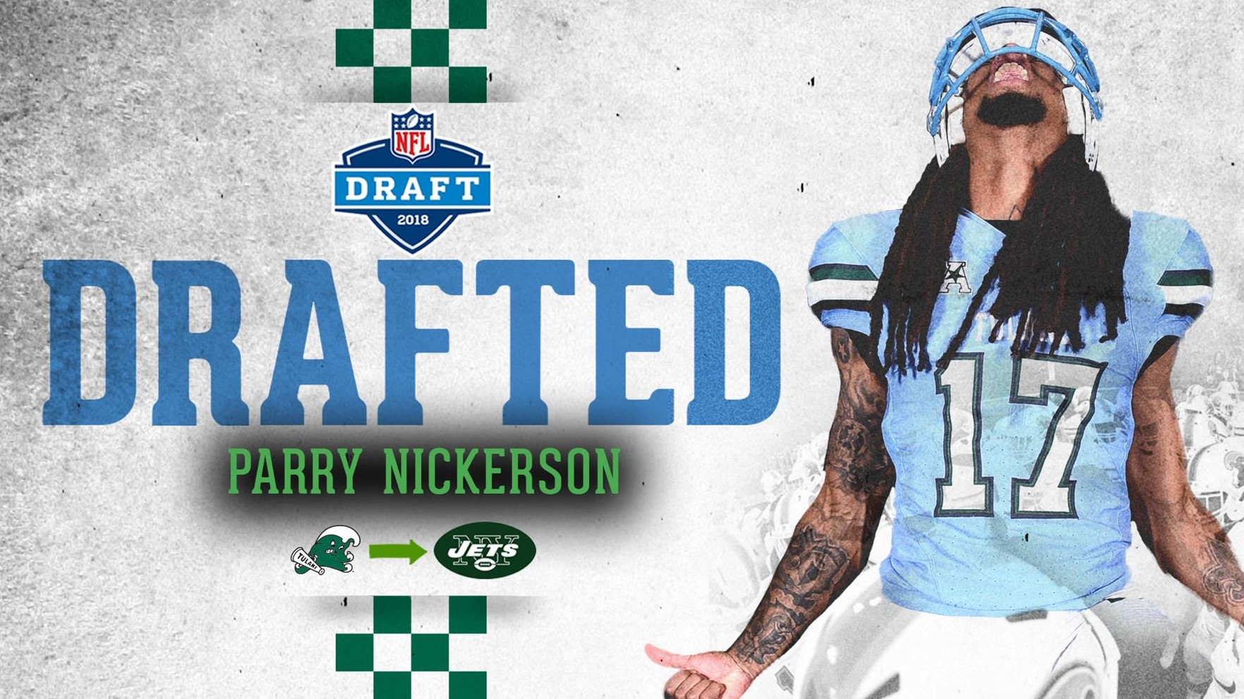 huge selection of 214b2 3144e Nickerson Selected by the New York Jets in the 2018 NFL ...
