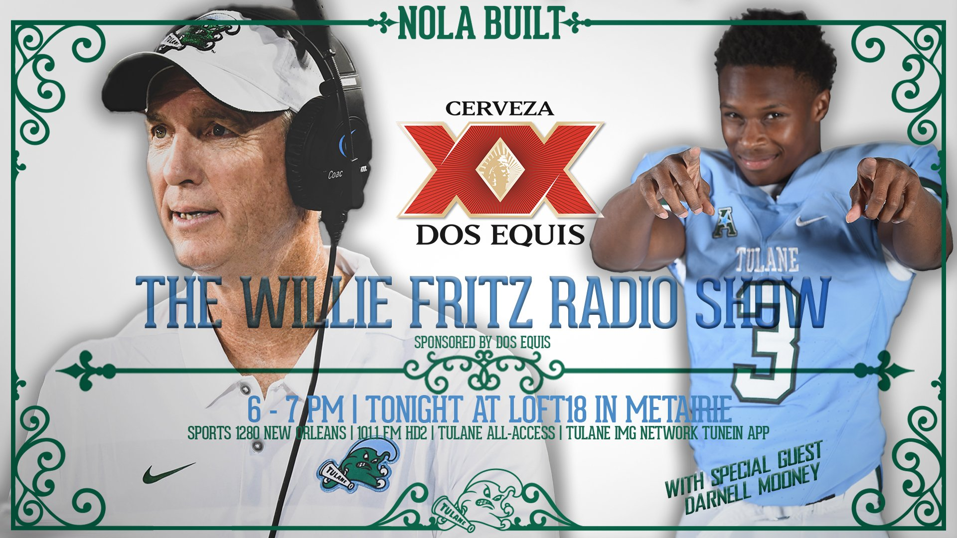 The Willie Fritz Radio Show Airs Tonight at Loft 18 - Tulane