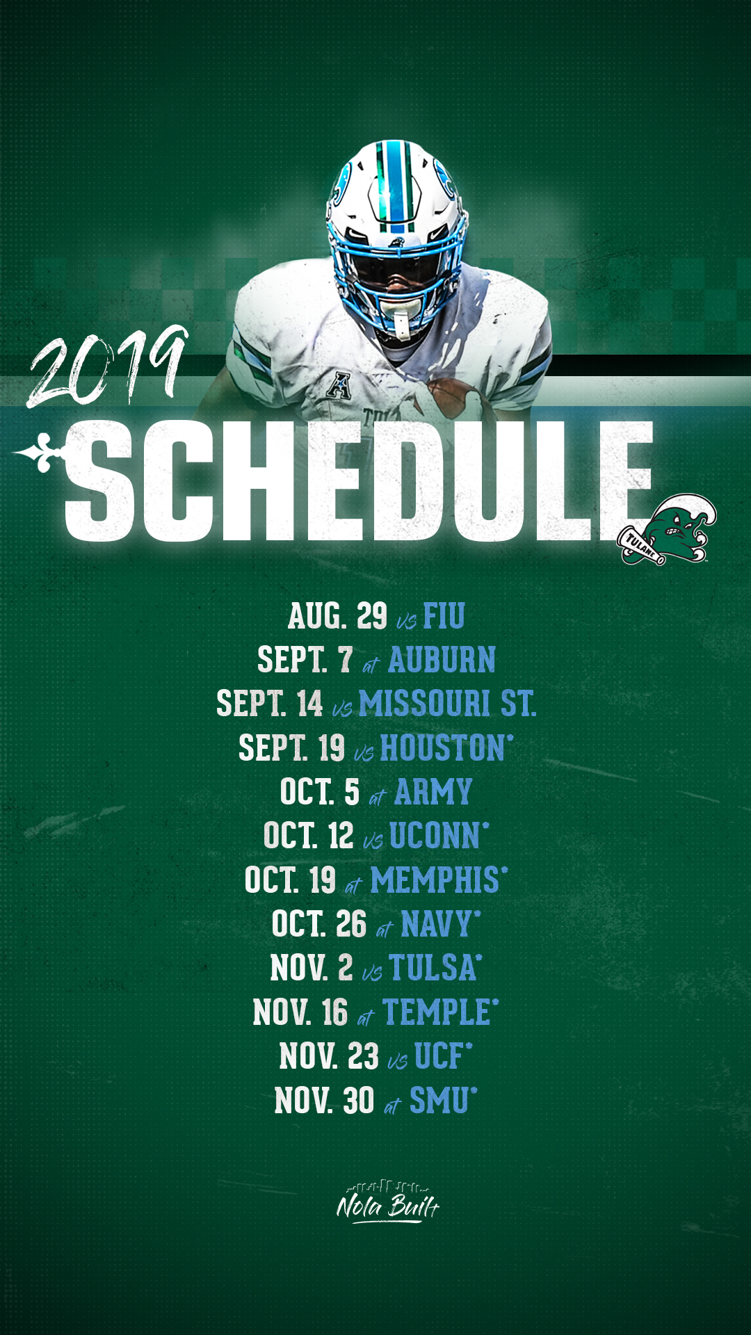 Ucf Football Schedule 2020.Tulane Announces 2019 Football Schedule Tulane University