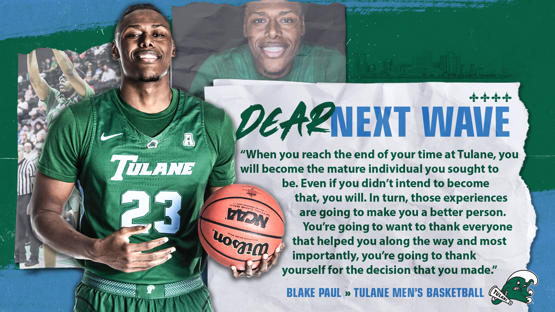 43227a1590f Men s Basketball Reveals New Mardi Gras Uniforms - Tulane University  Athletics
