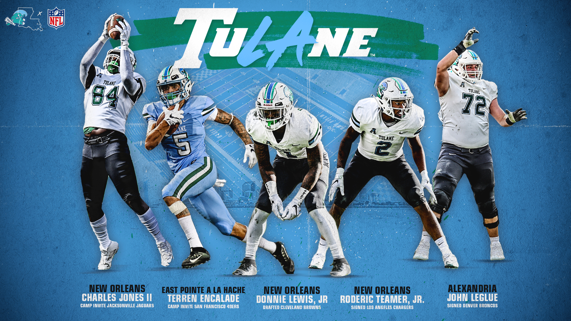 Tulane Football S 2018 Senior Class Well Represented On Nfl