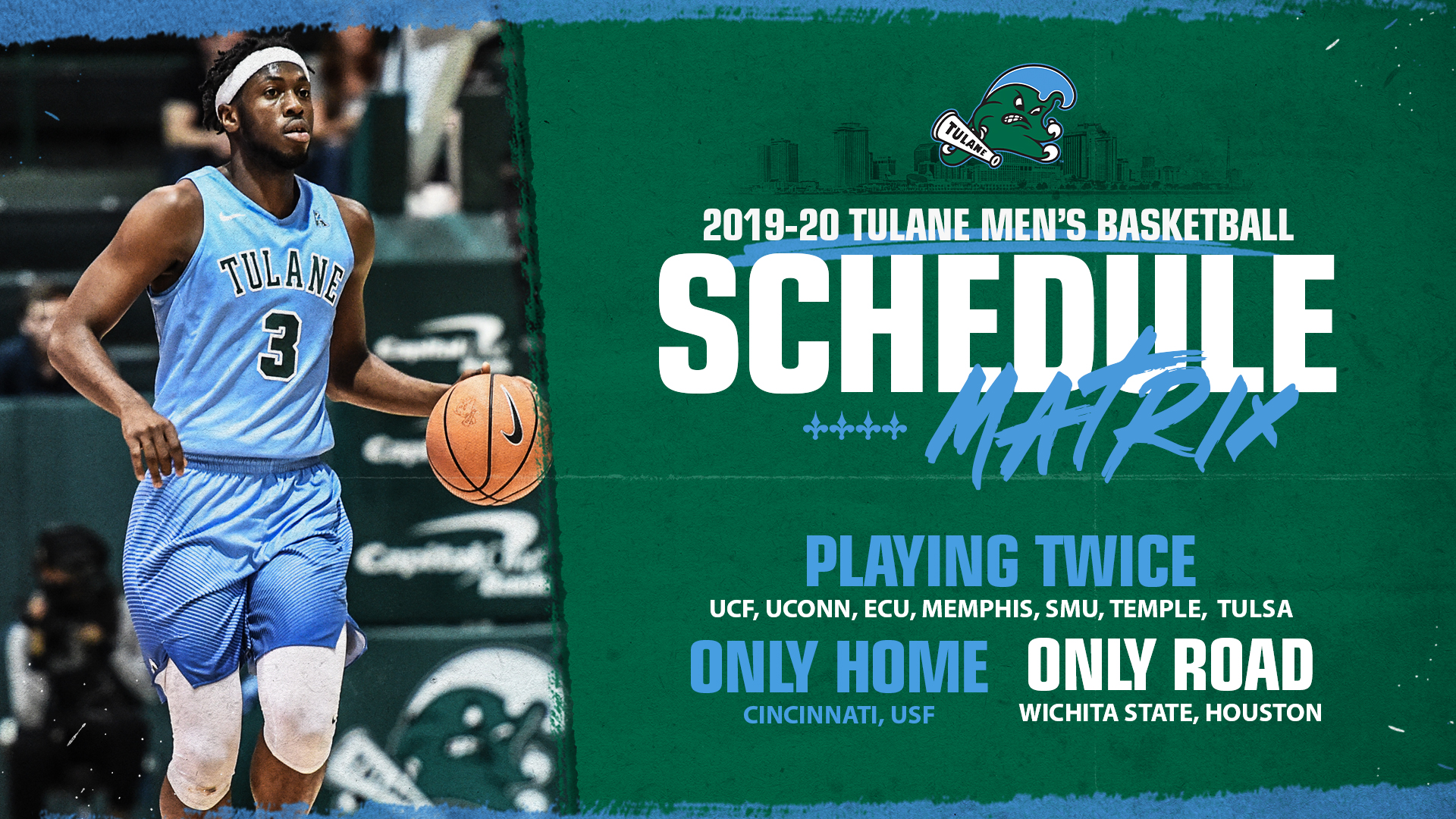 Tulane Baseball Schedule 2020 American Athletic Conference Unveils 2019 20 Men's Basketball